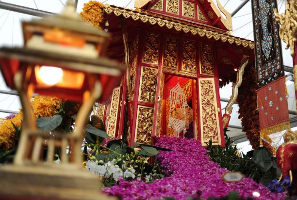 The Thai exhibit at the Chelsea Flower Show.