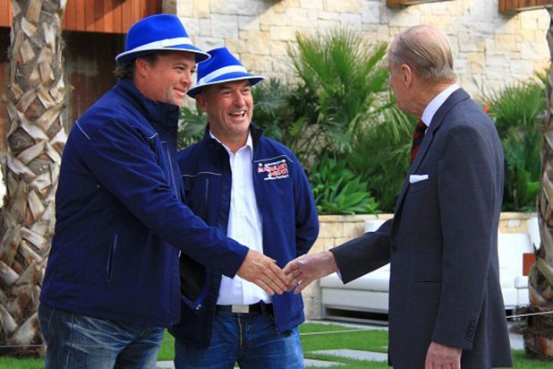 Jason Hodges and Wes Fleming meet Prince Philip.