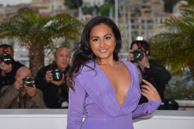 """Australian actress Jessica Mauboy poses during the photocall of """"The Sapphires""""."""