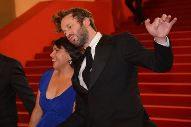 """Irish actor Chris O'Dowd and Australian actress Deborah Mailman leave after the screening of """"The Sapphires"""" presented ..."""
