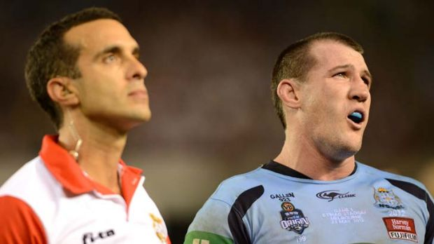 """How is that a try?"" ... NSW captain Paul Gallen."