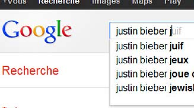 Google's autocomplete feature is causing a stir in France.