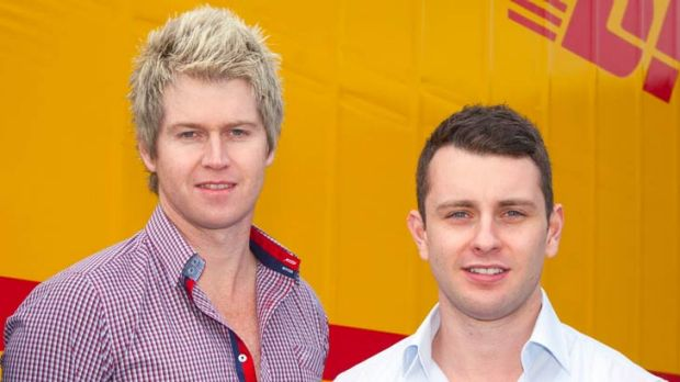 In 210 countries ... Jack Fitzgerald, 25, (right) and business partner Michael Teasdale, 33.