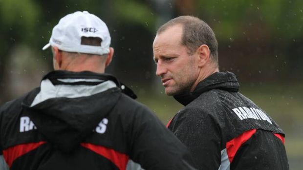 Michael Maguire at Souths training.