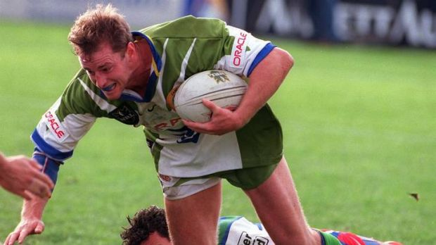 Maguire pictured in his last game for the Raiders in 1998.