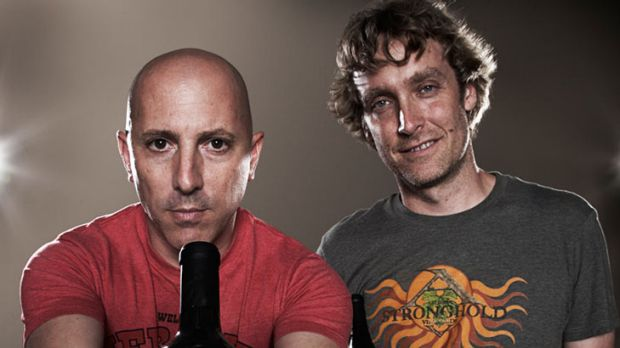 Tool singer Maynard James Keenan with winemaking partner Eric Glomski.