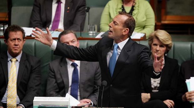 It's all in the tone ... there's a suggestion that women voters in particular don't warm to Opposition leader Tony ...