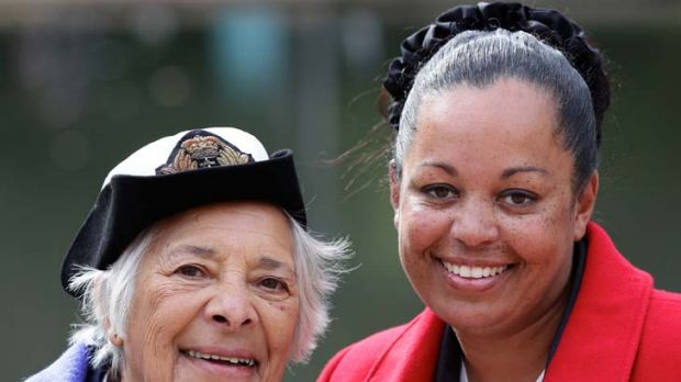 Just a phone call away ... scholarship winner Melissa Williams, right, has sought plenty of advice from her great-aunt ...