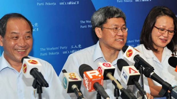 Victorious ... Workers' Party's candidate Png Eng Huat wins 62 per cent of about 21,700 votes.