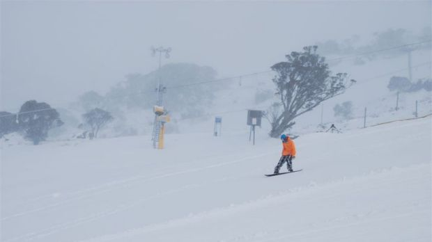 Early opening ... heavy snowfalls have prompted Perisher to open its slopes a week before the official start to the season.