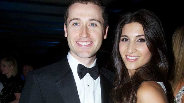 Tom Waterhouse with his wife Hoda.
