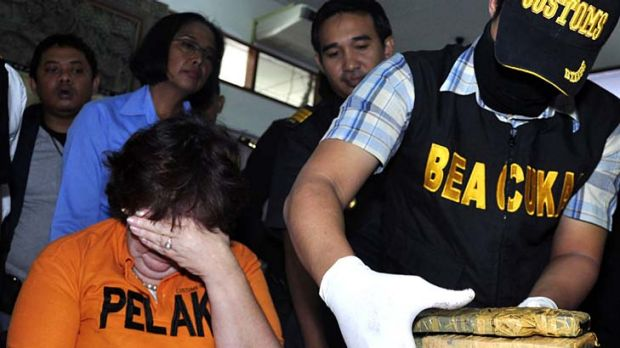 Facing the death penalty ... Sandiford is paraded in front of the media after her arrest.