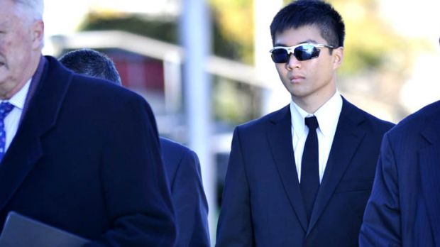 Accused ... International ADFA cadet Yong Chuean Benedict Ang outside the ACT Magistrates Court.