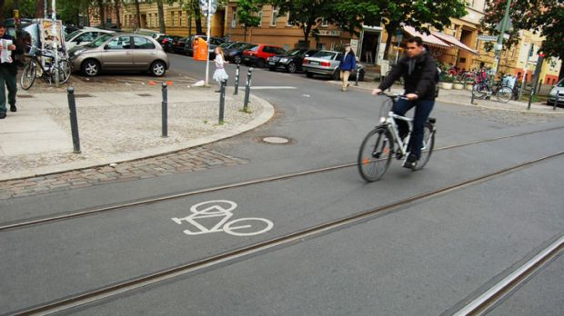German ingenuity ... Melbourne aims to have as many cyclists as Berlin.