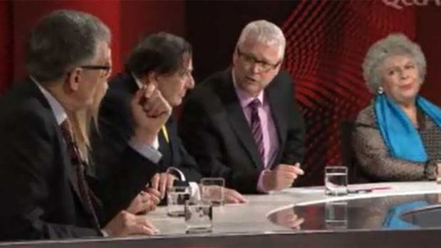 David Marr, Jacki Weaver, Barry Humphries, Barry Jones and  Miriam Margolyes on the panel.