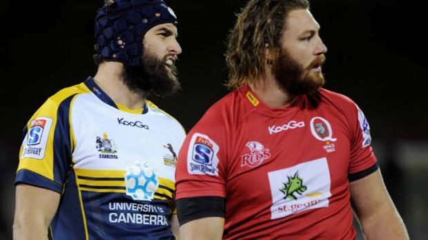 Handful of hobbies … Wallabies' Scott Higginbotham (right).