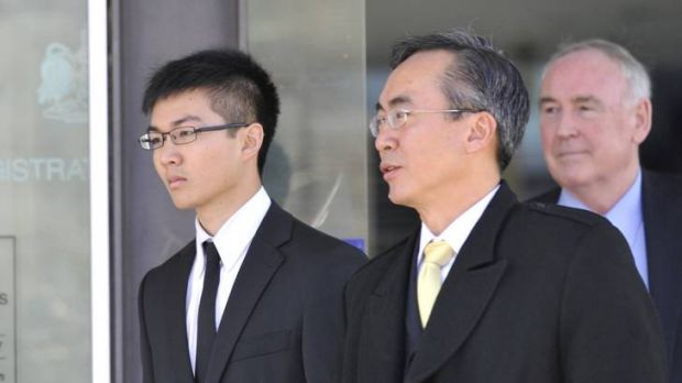 Yong Chuean Benedict Ang outside the ACT Magistrates Court.