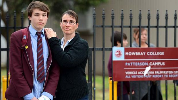 Marina Adam and her son Patrick, a year 10 student at Mowbray College, are apprehensive about the future.