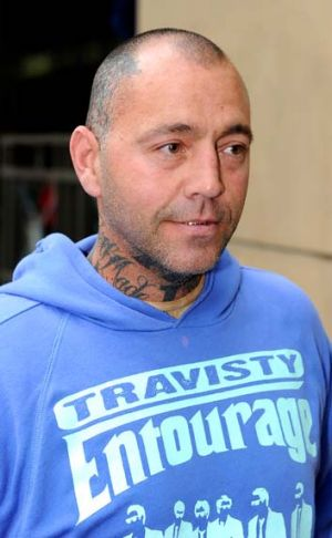 Bandidos bikie gang enforcer Toby Mitchell.