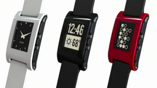 The Pebble E-Paper Smart Watch, a computerised dashboard for runners and cyclists.