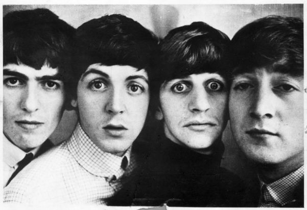 The Beatles in the early 1960s.