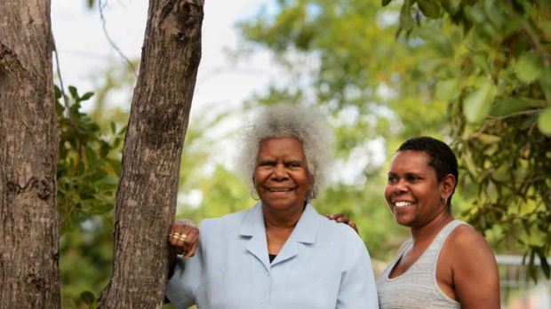 """""""Stuck me over many hardships and hurdles"""" ... Eddie Mabo's wife, Bonita, with her daughter Maleta West in Townsville."""