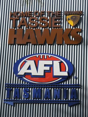 Tasmanian footy fans get excited about the crumbs of AFL footy they are thrown.