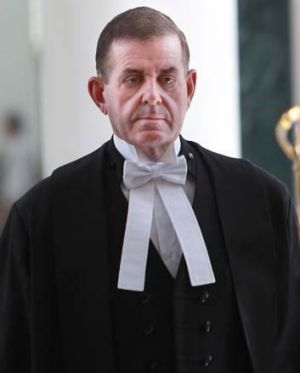 In full regalia ... Peter Slipper as Speaker of the House.