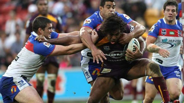 A 11-day Thaiday ... Broncos skipper Sam Thaiday led by example, taking the ball up strongly and ripping through the ...