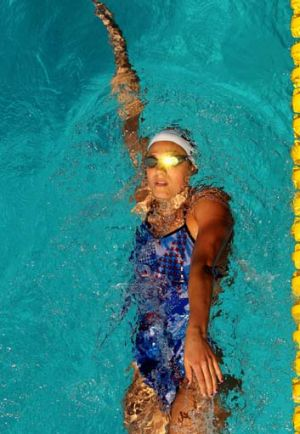 Stephanie Rice of Australia finished second in the 200m individual medley.