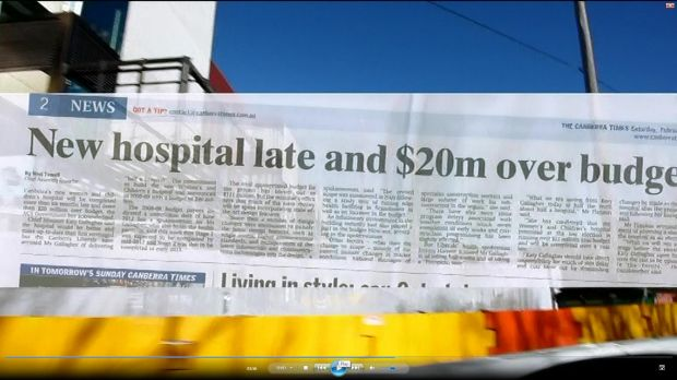 Election salvo ... a screengrab from the Liberals' commercial.
