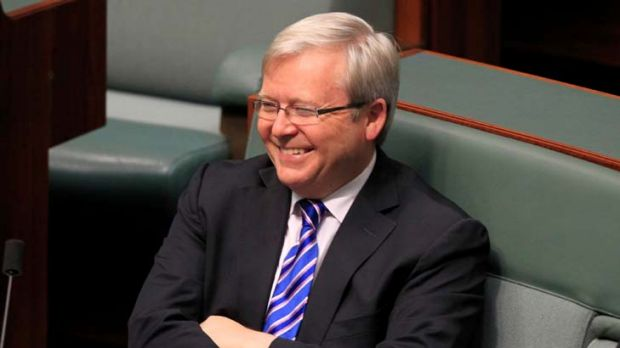 Hands tied ... Kevin Rudd will not be Labor's saving grace.