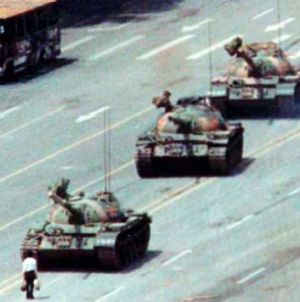The image synonymous with the Tiananmen Square protests of 1989.