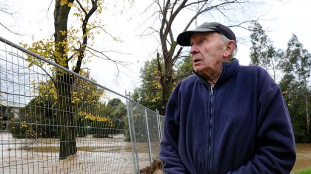 Traralgon resident Bill Thomas fears he has lost his home to flood damage.