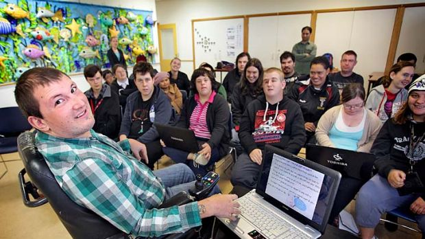 Jarred Marrinon helps young people living with disabilities to become 'webwise'.
