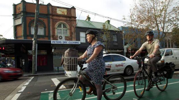 Widespread confusion ... Susan Goodwin says the downside to the cycleways is riders aren't always able to trigger the ...