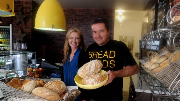 Bread Nerds owners  Shane and Sharon Peart at their boutique bread making  shop  in Hume.
