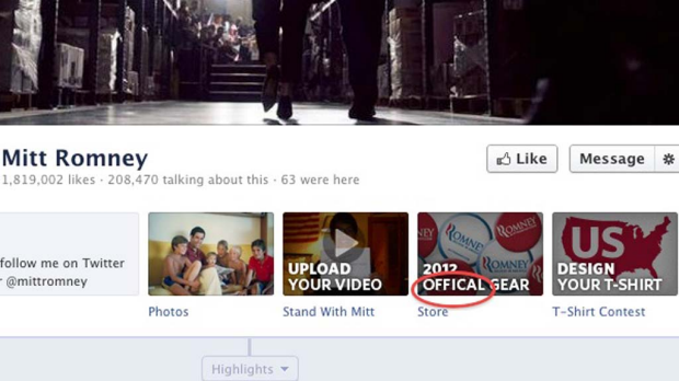 "Official is spelled ""offical"" front and centre on Romney's Facebook page."