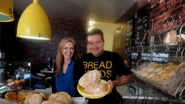 Shane and Sharon Peart with the bread they sell around Canberra.