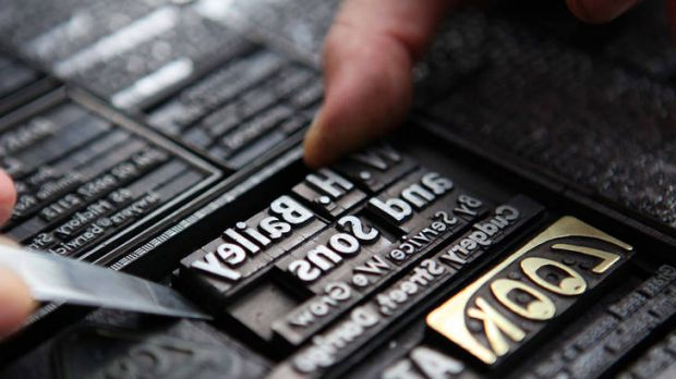 Long gone are the days when printing involved hot metal.