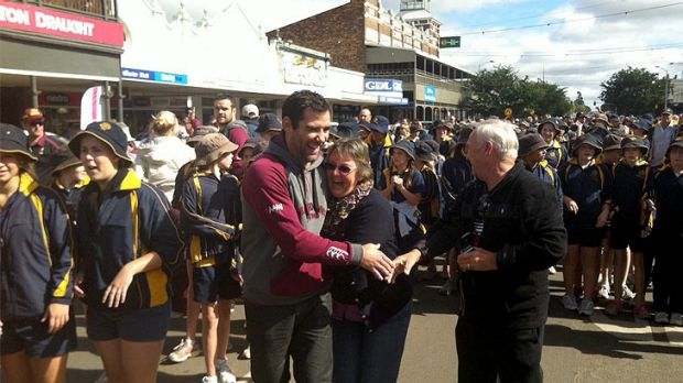 Cam Smith gets plenty of love from Roma league fans.