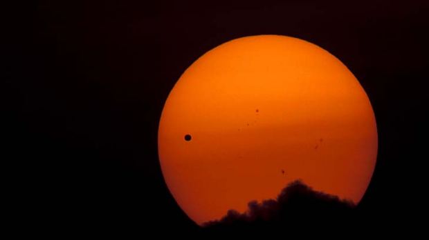 Venus makes its transit across the Sun - as seen from Kathmandu.