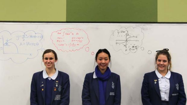 ''I love extension maths ... But I don't think I'd be able to do 4 unit, so I would be sad'' ... says Sophie Sauerman, ...