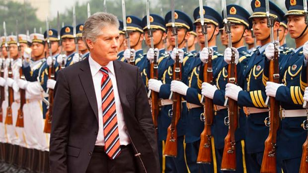 No 'Cold War-era alliance': Defence Minister Stephen Smith in Beijing.