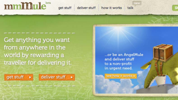 mmMule .... rewards amateur couriers with travel experiences.