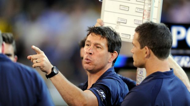 Under seige: Carlton coach Brett Ratten.