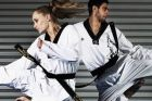 Carmen Marton and Safwan Khalil of the Australian Olympic Taekwondo team.