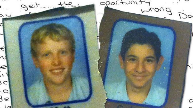 A Picton High School year 8 photo of Matt Milat and Cohen Klein, who were found guilty of murdering David Auchterlonie.