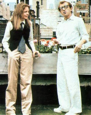 Allen in <i>Annie Hall</i> with Diane Keaton as his leading lady.