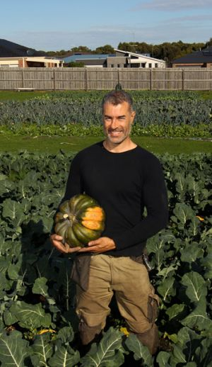 Joseph Aiello in his market garden at Inverloch. His business is called Jjaras Farm Gate, and specialises in home-made, ...